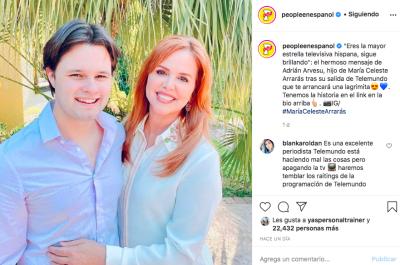 Mensaje hijo María Celeste (IG People en Español)