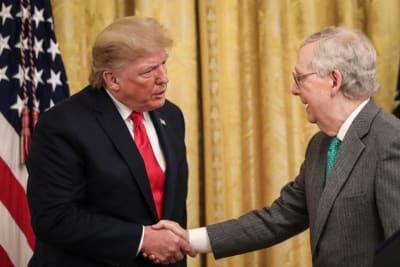 McConnell rechaza sesión emergencia, juicio Trump, Senado