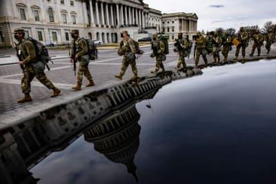 Mujer arrestada Capitolio Washington, Inauguración Biden, Policía Capitolio