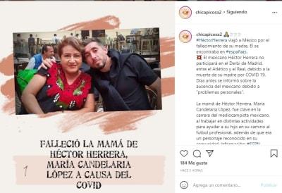 Héctor Herrera muerte madre 2