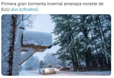 Tormenta Invernal blanca Navidad 1