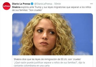 Shakira políticas de inmigración 1 Estados Unidos