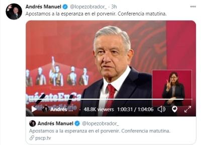 AMLO suspende conferencia mañanera al enterarse de la muerte de Armando Manzanero