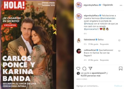 Karina Banda se casa 1 El Gordo y la Flaca Carlos Ponce