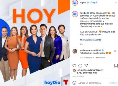 Telemundo recibe duras críticas por Hoy Día (IG)