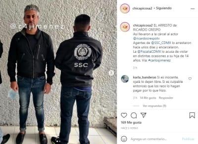 Ricardo Crespo arresto hija