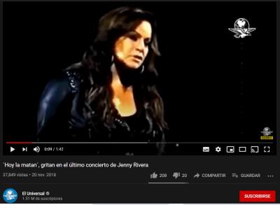 Jenni Rivera video concierto