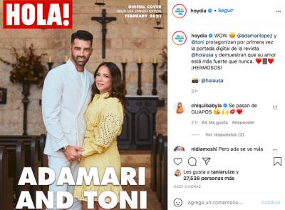 Adamari López y Toni Costa separación (Instagram)