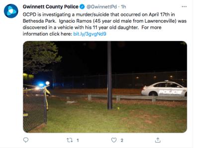 Georgia, Gwinnett, hombre e hija sin vida (Twitter)