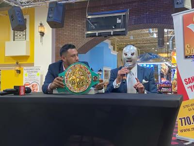 Luchador enmascarado El Hijo del Santo visita la ciudad de Atlanta para participar en el MLA 21 Realeza