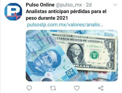Peso mexicano 2 de febrero