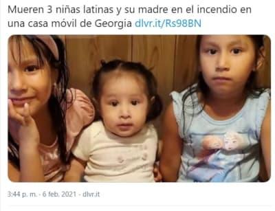 Madre hijas latinas mueren incendio