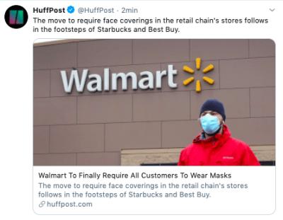 Walmart mascarillas: será obligatorio usarlas dentro de las tiendas