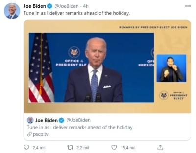 """Biden asegura que plan de ayuda por coronavirus """"es solo un primer paso"""""""