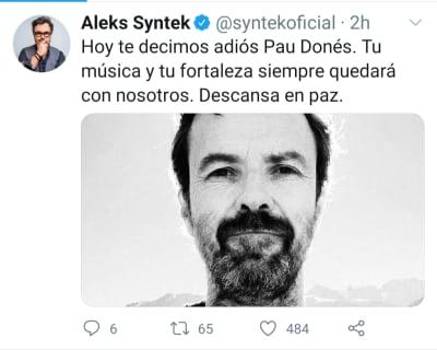 Aleks Syntek luto muerte Pau Donés