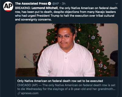 ejecutan a indio navajo Lezmond Mitchell