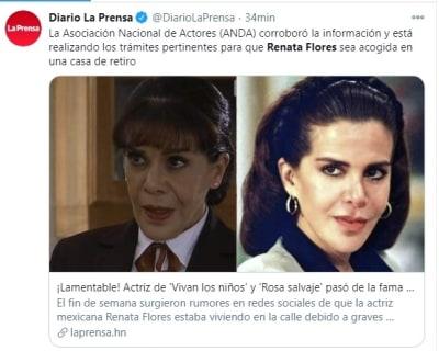 Renata Flores vive calle 2