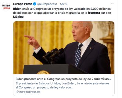Biden flujo migratorio (Twitter)