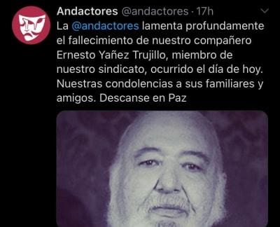 Ernesto Yáñez murió coronavirus