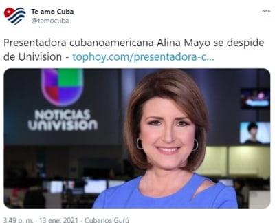 Univisión Alina Mayo se despide 2