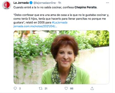 Chepina Peralta muerte (TW)