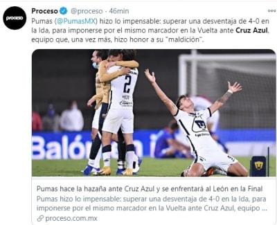 Pumas contra Cruz Azul 1