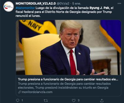 Trump dimisión fiscal Georgia