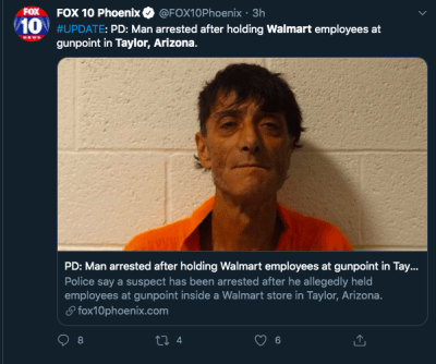 tiroteo Walmart Arizona