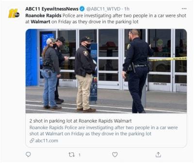 tiroteo Walmart Carolina del Norte