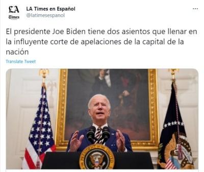 Joe Biden podría dejar su marca en el poder judicial de Estados Unidos