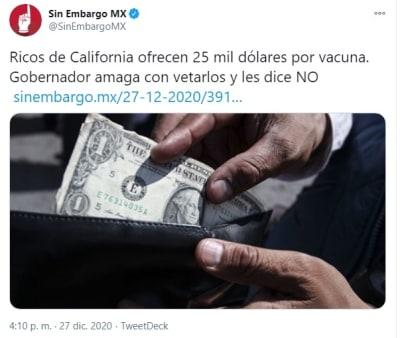 Personas dólares vacuna coronavirus 1