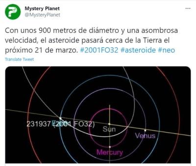 Asteroide del tamaño del puente Golden Gate llegará a la Tierra