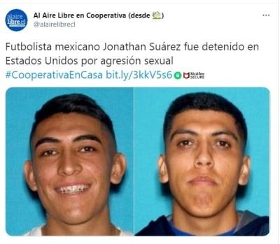 Futbolista Jonathan Suárez arrestado agresión sexual 2
