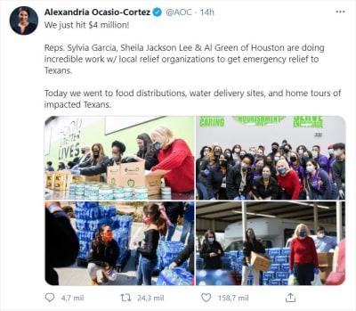 Ocasio Cortez recauda dinero