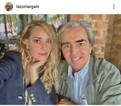 Lorenzo Lazo, viudo de Edith González, celebra su primer año de noviazgo Lourdes Peláez