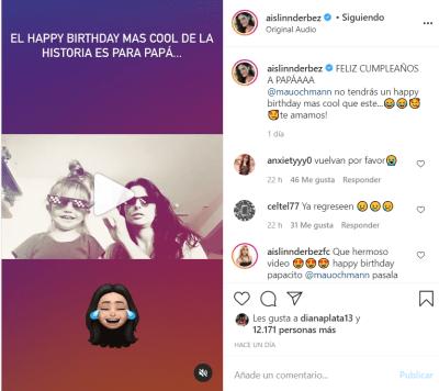 Aislinn Derbez video cumpleaños: