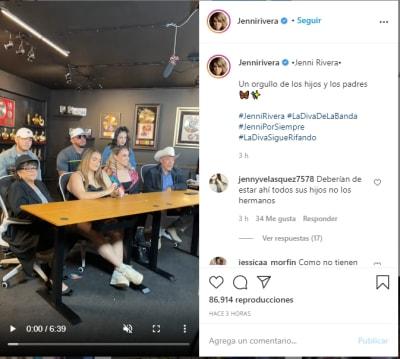 Familia Jenni Rivera anunció 1