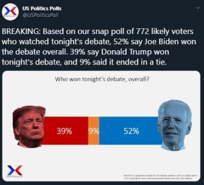 quién ganó último debate