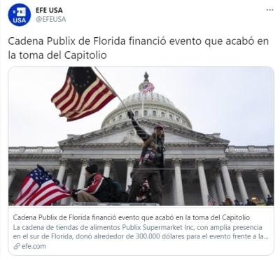 Publix evento toma de Capitolio