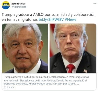 Trump agradece AMLO migración 3