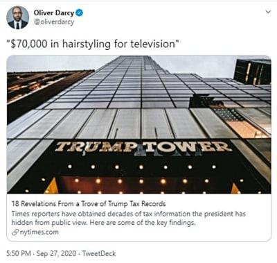 Trump costo cabello: Pagó más en peluquería que en taxes