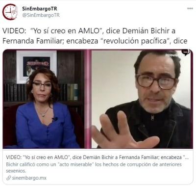 Demián Bichir AMLO 1 Fernanda Familiar