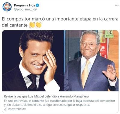 Luis Miguel burla estatura 2