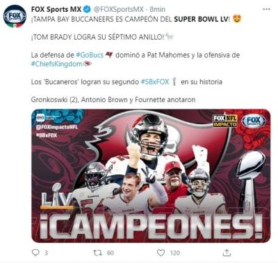Tom Brady Super Bowl LV Buccaneers de Tampa Bay