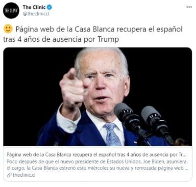 Página web español Casa Blanca 2