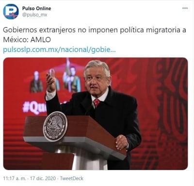 AMLO defiende política migratoria 1