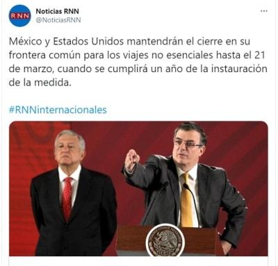 México Estados Unidos fronteras cerradas coronavirus 3