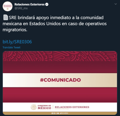 México Apoyo Migrantes redada ICE operativo