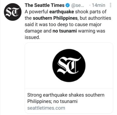 Sismo Sur de Chile, terremoto