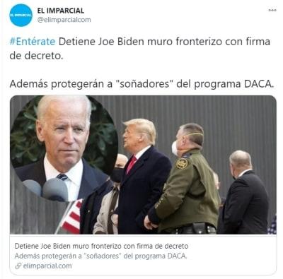 Biden firma decretos muro México soñadores 22